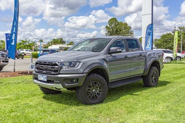 Used Ford Ranger PX MkIII 2019.75MY Raptor Pick-up Double Cab, 2019 Ford Ranger PX MkIII 2019.75MY Raptor Pick-up Double Cab Conquer Grey 10 Speed Sports Automatic
