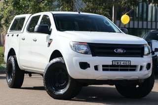 2015 Ford Ranger PX XL 2.2 (4x4) White 6 Speed Automatic Crew Cab Utility.