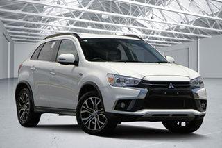 2018 Mitsubishi ASX XC MY18 LS ADAS (2WD) White Continuous Variable Wagon.