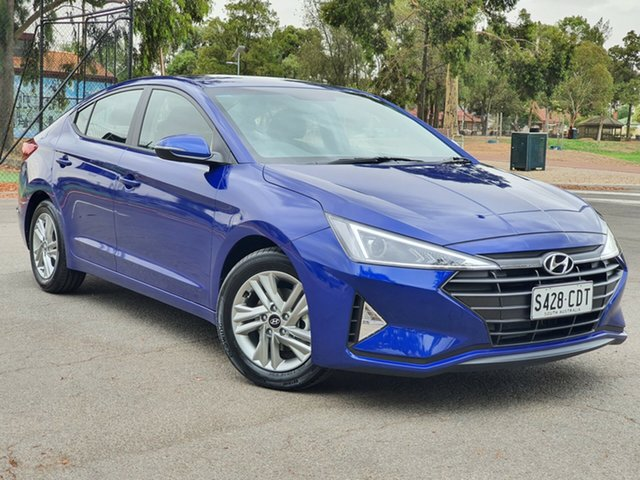 Demo Hyundai Elantra AD.2 MY19 Active, 2019 Hyundai Elantra AD.2 MY19 Active Intense Blue 6 Speed Sports Automatic Sedan