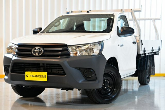 Used Toyota Hilux TGN121R Workmate 4x2, 2015 Toyota Hilux TGN121R Workmate 4x2 White 5 Speed Manual Cab Chassis