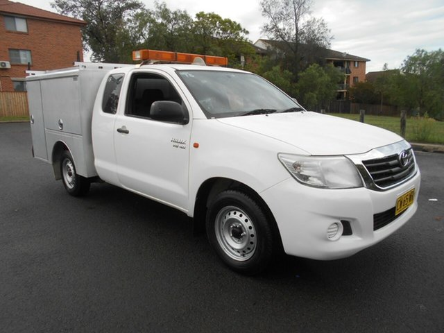 Used Toyota Hilux GGN15R MY12 SR, 2014 Toyota Hilux GGN15R MY12 SR White 5 Speed Automatic X Cab Pickup