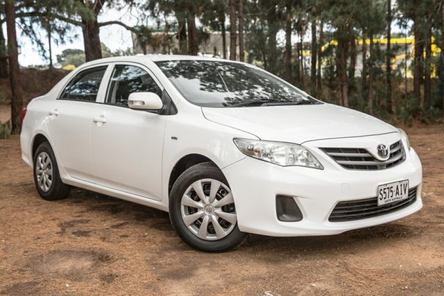 Used Toyota Corolla ZRE152R Ascent, 2010 Toyota Corolla ZRE152R Ascent White 4 Speed Automatic Sedan