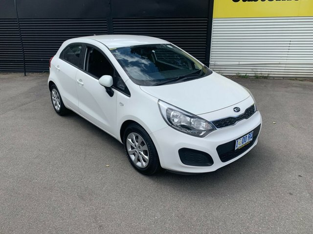 Used Kia Rio UB MY13 S, 2013 Kia Rio UB MY13 S White 4 Speed Sports Automatic Hatchback