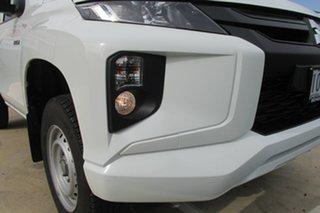 2018 Mitsubishi Triton MR MY19 GLX White 6 Speed Sports Automatic Cab Chassis.