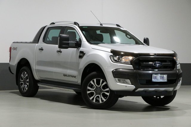 Used Ford Ranger PX MkII MY17 Wildtrak 3.2 (4x4), 2017 Ford Ranger PX MkII MY17 Wildtrak 3.2 (4x4) Silver 6 Speed Automatic Dual Cab Pick-up