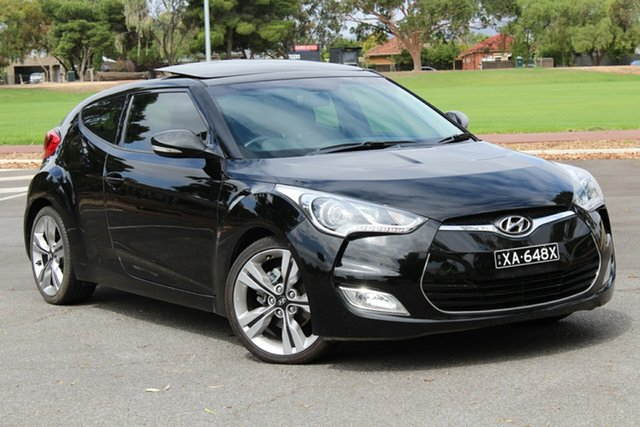 Used Hyundai Veloster FS + Coupe, 2011 Hyundai Veloster FS + Coupe Black 6 Speed Manual Hatchback