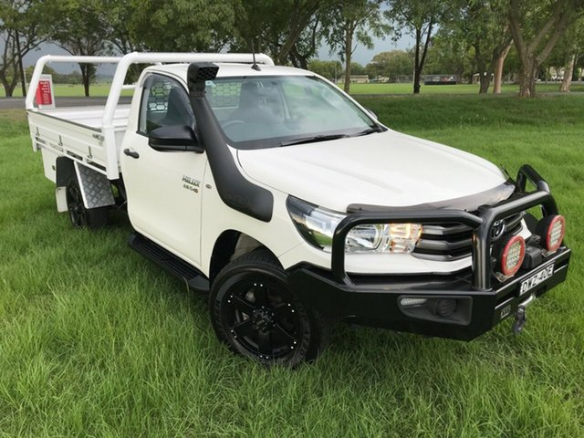 Used Toyota Hilux GUN126R SR, 2018 Toyota Hilux GUN126R SR Glacier White 6 Speed Manual Cab Chassis