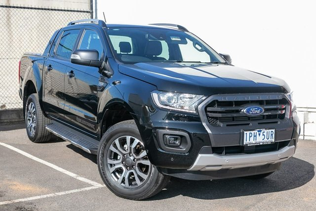 Used Ford Ranger PX MkIII 2019.00MY Wildtrak Pick-up Double Cab, 2019 Ford Ranger PX MkIII 2019.00MY Wildtrak Pick-up Double Cab Black 6 Speed Sports Automatic
