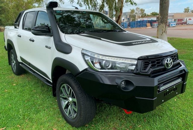 Used Toyota Hilux GUN126R Rugged X Double Cab, 2018 Toyota Hilux GUN126R Rugged X Double Cab White 6 Speed Sports Automatic Utility