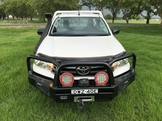 2018 Toyota Hilux GUN126R SR Glacier White 6 Speed Manual Cab Chassis