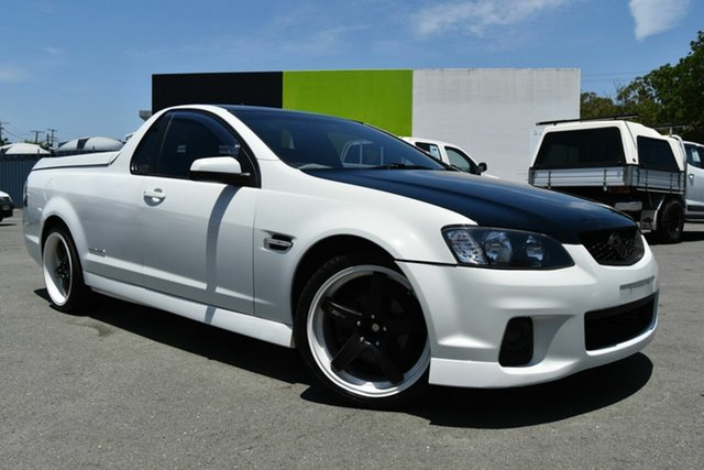 Used Holden Commodore VE II MY12 SV6 Thunder, 2012 Holden Commodore VE II MY12 SV6 Thunder White 6 Speed Manual Utility