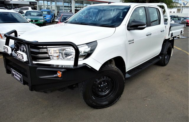 Used Toyota Hilux GUN126R SR Double Cab, 2016 Toyota Hilux GUN126R SR Double Cab White 6 Speed Manual Utility