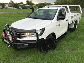 2018 Toyota Hilux GUN126R SR Glacier White 6 Speed Manual Cab Chassis.