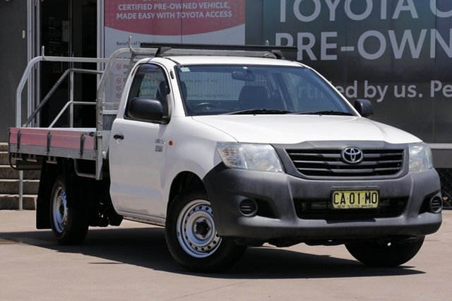 Used Toyota Hilux TGN16R MY12 Workmate, 2014 Toyota Hilux TGN16R MY12 Workmate White 4 Speed Automatic Cab Chassis