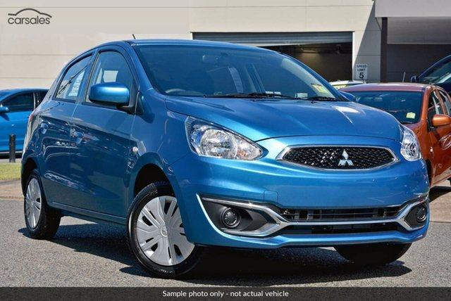 Demo Mitsubishi Mirage LA MY20 ES, 2019 Mitsubishi Mirage LA MY20 ES Blue 1 Speed Constant Variable Hatchback