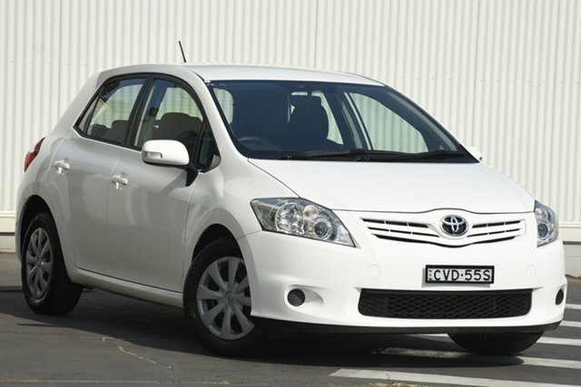 Used Toyota Corolla ZRE152R MY11 Ascent, 2010 Toyota Corolla ZRE152R MY11 Ascent White 4 Speed Automatic Hatchback