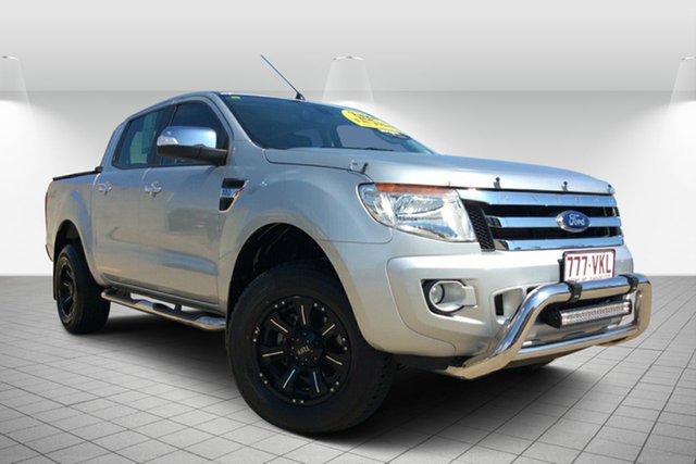Used Ford Ranger PX XLT Double Cab, 2014 Ford Ranger PX XLT Double Cab Silver 6 Speed Sports Automatic Utility