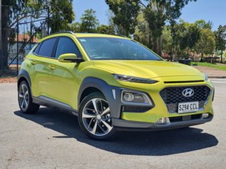 2019 Hyundai Kona OS.3 MY20 Highlander 2WD Acid Yellow 6 Speed Sports Automatic Wagon.
