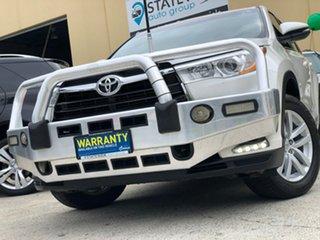 2014 Toyota Kluger GSU55R GX (4x4) White 6 Speed Automatic Wagon