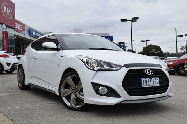 Used Hyundai Veloster FS3 SR Coupe Turbo, 2014 Hyundai Veloster FS3 SR Coupe Turbo White 6 Speed Sports Automatic Hatchback