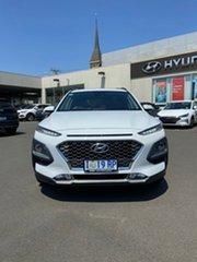 2019 Hyundai Kona OS.3 MY20 Highlander 2WD Chalk White 6 Speed Sports Automatic Wagon.