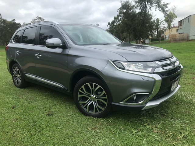 Used Mitsubishi Outlander ZK MY16 Exceed (4x4), 2016 Mitsubishi Outlander ZK MY16 Exceed (4x4) Grey 6 Speed Automatic Wagon