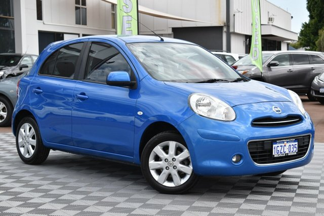 Used Nissan Micra K13 TI, 2011 Nissan Micra K13 TI Blue 4 Speed Automatic Hatchback