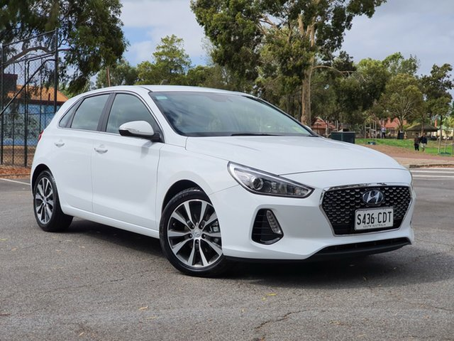 Demo Hyundai i30 PD2 MY20 Elite, 2019 Hyundai i30 PD2 MY20 Elite Polar White 6 Speed Sports Automatic Hatchback