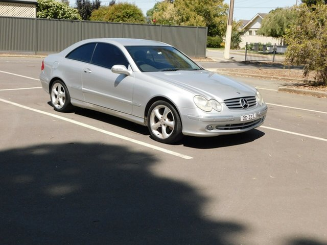 Used Mercedes-Benz CLK-Class C209 CLK320 Elegance Morphett Vale, 2003 Mercedes-Benz CLK-Class C209 CLK320 Elegance Silver 5 Speed Automatic Coupe
