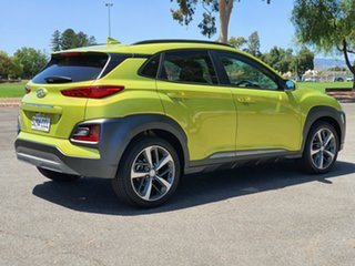 2019 Hyundai Kona OS.3 MY20 Highlander 2WD Acid Yellow 6 Speed Sports Automatic Wagon