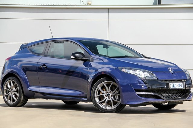 Used Renault Megane III D95 R.S. 265 Sport Limited Edition, 2013 Renault Megane III D95 R.S. 265 Sport Limited Edition Pacific Blue 6 Speed Manual Coupe