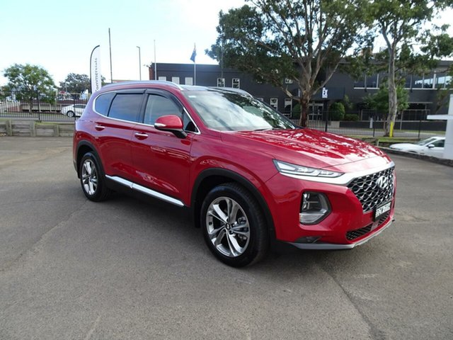 Used Hyundai Santa Fe TM MY19 Highlander, 2018 Hyundai Santa Fe TM MY19 Highlander Horizon Red 8 Speed Sports Automatic Wagon