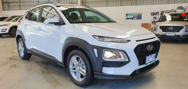 Demo Hyundai Kona OS.3 MY20 Active D-CT AWD, 2019 Hyundai Kona OS.3 MY20 Active D-CT AWD Chalk White 7 Speed Sports Automatic Dual Clutch Wagon
