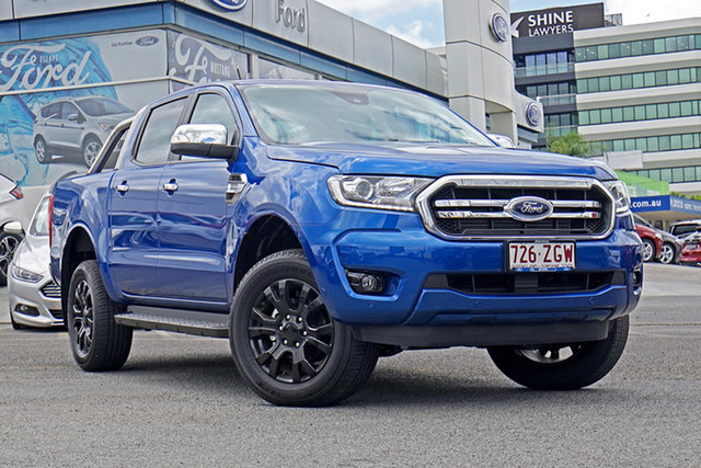 Demo Ford Ranger PX MkIII 2019.75MY XLT Pick-up Double Cab, 2019 Ford Ranger PX MkIII 2019.75MY XLT Pick-up Double Cab Blue 10 Speed Sports Automatic Utility