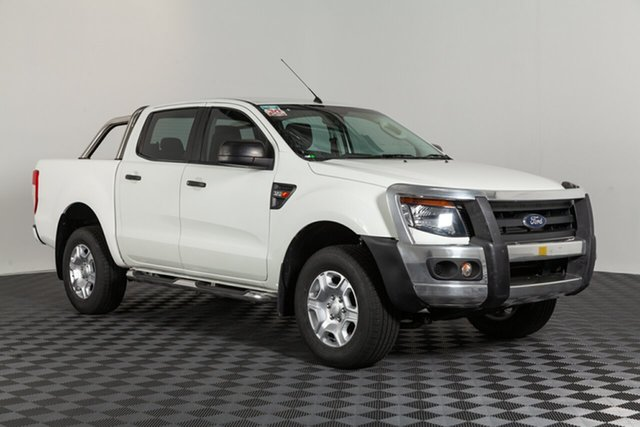 Used Ford Ranger PX XL Double Cab, 2014 Ford Ranger PX XL Double Cab White 6 speed Automatic Cab Chassis