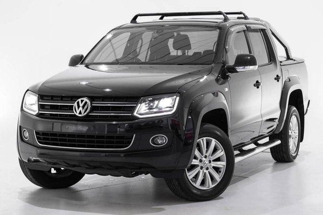 Used Volkswagen Amarok 2H MY16 TDI420 4Motion Perm Highline, 2016 Volkswagen Amarok 2H MY16 TDI420 4Motion Perm Highline Black 8 Speed Automatic Utility