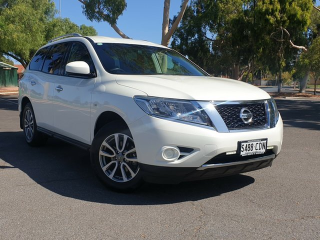 Used Nissan Pathfinder R52 MY16 ST X-tronic 2WD, 2016 Nissan Pathfinder R52 MY16 ST X-tronic 2WD White 1 Speed Constant Variable Wagon