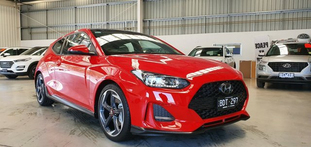Demo Hyundai Veloster JS MY20 Turbo Coupe D-CT Premium, 2019 Hyundai Veloster JS MY20 Turbo Coupe D-CT Premium Ignite Flame 7 Speed