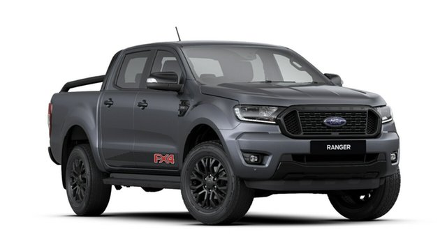 New Ford Ranger PX MkIII 2020.25MY FX4 Pick-up Double Cab, 2019 Ford Ranger PX MkIII 2020.25MY FX4 Pick-up Double Cab Meteor Grey 10 Speed Sports Automatic