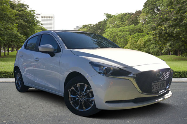 Demo Mazda 2 DJ2HA6 G15 SKYACTIV-MT Pure, 2019 Mazda 2 DJ2HA6 G15 SKYACTIV-MT Pure White Pearl 6 Speed Manual Hatchback