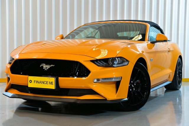Used Ford Mustang FN 2018MY GT SelectShift, 2018 Ford Mustang FN 2018MY GT SelectShift Orange 10 Speed Sports Automatic Convertible