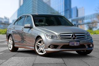 2010 Mercedes-Benz C-Class W204 MY10 C220 CDI Avantgarde Billet Silver 5 Speed Automatic Sedan.