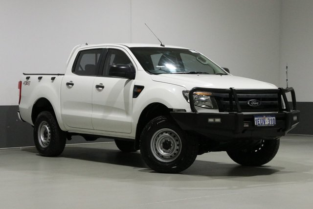 Used Ford Ranger PX XL 2.2 (4x4), 2012 Ford Ranger PX XL 2.2 (4x4) White 6 Speed Automatic Crew Cab Chassis