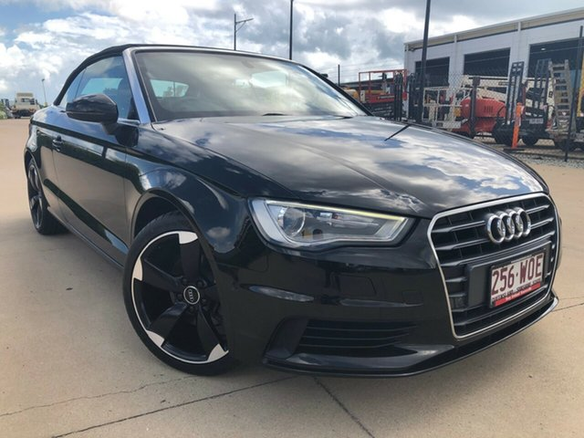 Used Audi A3 8V MY16 Attraction S Tronic, 2016 Audi A3 8V MY16 Attraction S Tronic Black 7 Speed Sports Automatic Dual Clutch Cabriolet