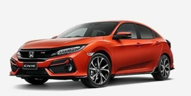New Honda Civic 10th Gen MY20 RS, 2020 Honda Civic 10th Gen MY20 RS Orange 1 Speed Constant Variable Hatchback