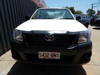 2011 Toyota Hilux TGN16R MY12 Workmate 4x2 White 5 Speed Manual Cab Chassis.