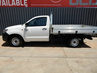 2011 Toyota Hilux TGN16R MY12 Workmate 4x2 White 5 Speed Manual Cab Chassis