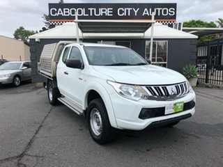 2015 Mitsubishi Triton MQ MY16 GLX (4x4) White 6 Speed Manual Club Cab Chassis.