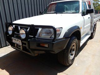2000 Nissan Patrol GU DX White 5 Speed Manual Cab Chassis.